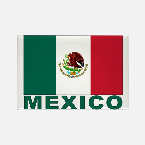Mexico Flag Rectangle Magnet