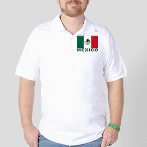 Mexico Flag Golf Shirt