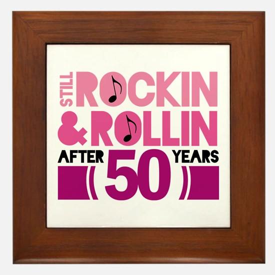 50th Anniversary Funny Gift Framed Tile