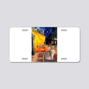 Cafe & Blue Abbysinian Aluminum License Plate