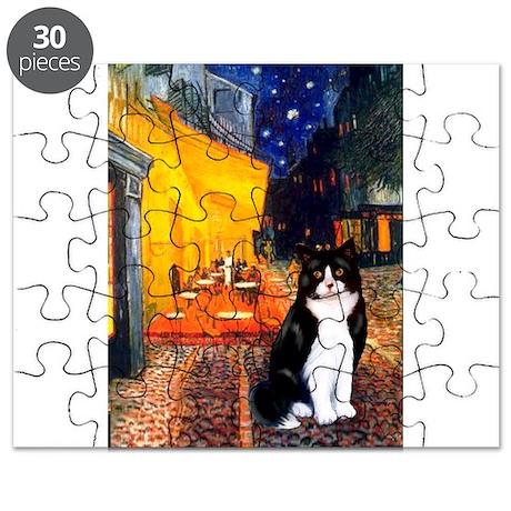 Cafe / Amer Shorthair(b&w) Puzzle
