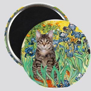 Irises / Tiger Cat Magnet