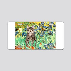 Irises / Tiger Cat Aluminum License Plate