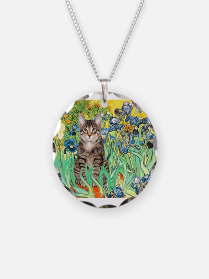 Irises / Tiger Cat Necklace