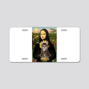 Mona's Tiger Cat Aluminum License Plate