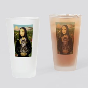 Mona's Tiger Cat Drinking Glass