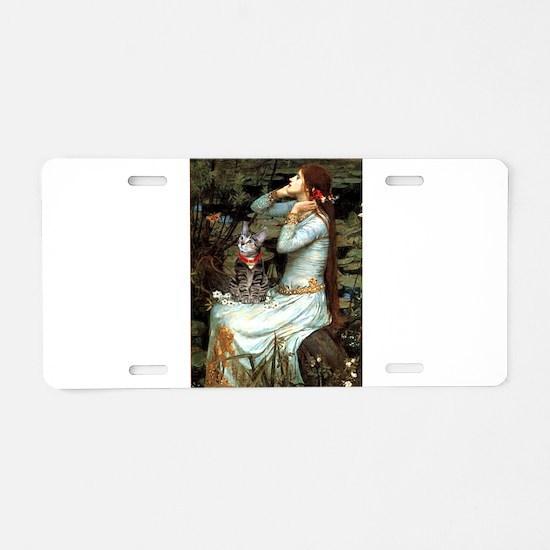 Ophelia / Tiger Cat Aluminum License Plate