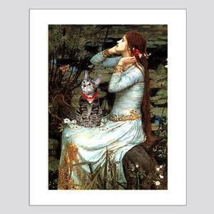 Ophelia / Tiger Cat Small Poster