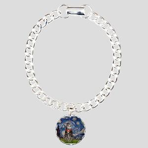 Starry Night / Tiger Cat Charm Bracelet, One Charm