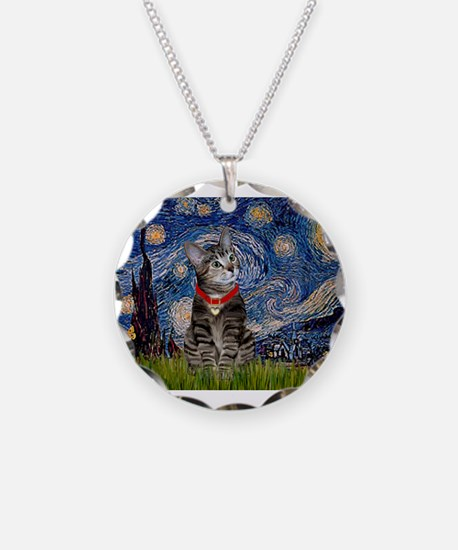 Starry Night / Tiger Cat Necklace