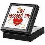 Jay Lassoed My Heart Keepsake Box