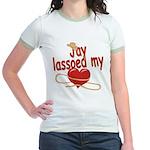 Jay Lassoed My Heart Jr. Ringer T-Shirt