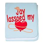 Jay Lassoed My Heart baby blanket