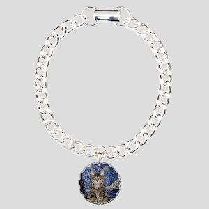 Starry Night & Tiger Cat Charm Bracelet, One Charm
