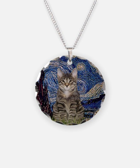 Starry Night & Tiger Cat Necklace