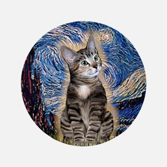 """Starry / Tiger Cat 3.5"""" Button"""