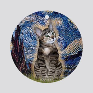 Starry / Tiger Cat Ornament (Round)