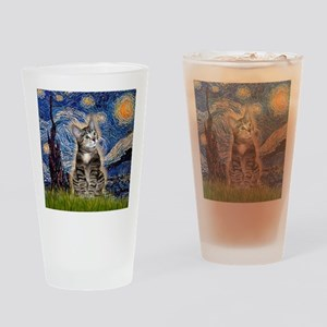 Starry / Tiger Cat Drinking Glass