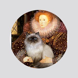 "Queen & Himalayan cat 3.5"" Button"