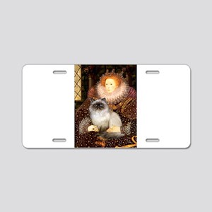 Queen & Himalayan cat Aluminum License Plate