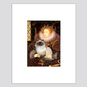 Queen & Himalayan cat Small Poster