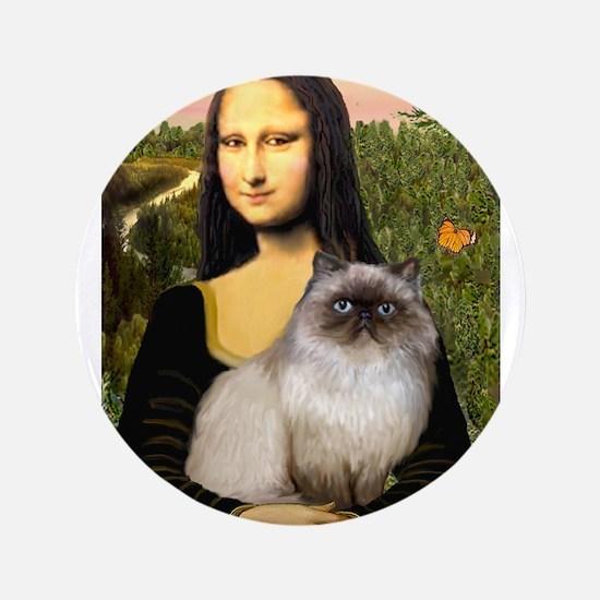 """Mona's Himalayan Cat 3.5"""" Button"""