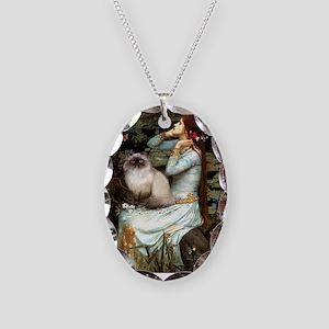 Ophelia & Himalayan Necklace Oval Charm