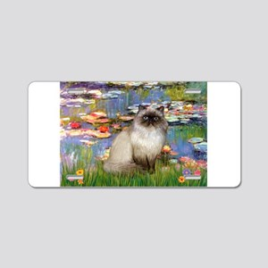 Lilies & Himalayan cat Aluminum License Plate