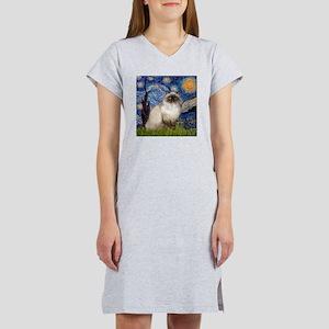 Starry Night Himilayan (#1) Women's Nightshirt