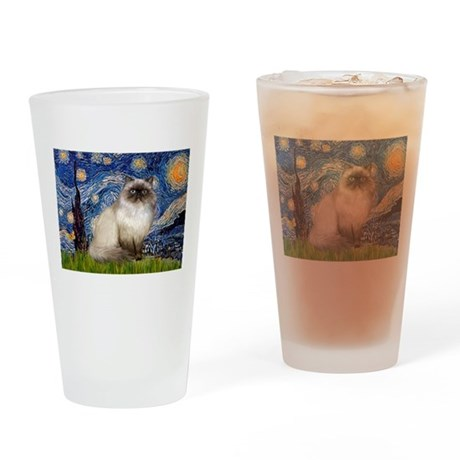 Starry Night Himilayan (#1) Drinking Glass