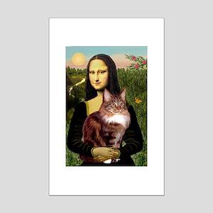Mona's Maine Coon Mini Poster Print