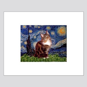 Starry Maine Coon Small Poster