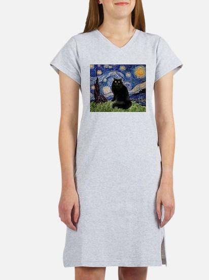 Starry Night /Persian (bl) Women's Nightshirt