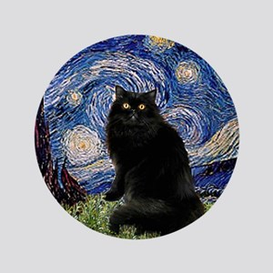 "Starry Night /Persian (bl) 3.5"" Button"