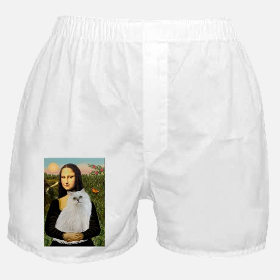 Mona's White Persian Boxer Shorts