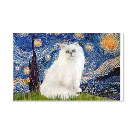 Starry Night White Persian 22x14 Wall Peel