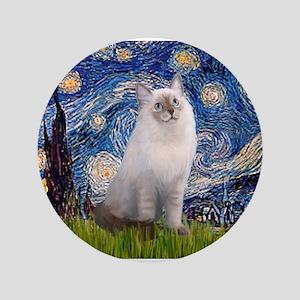 "Starry Night Ragdoll 3.5"" Button"