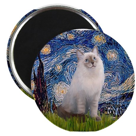 Starry Night Ragdoll Magnet