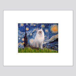 Starry Night Ragdoll Small Poster
