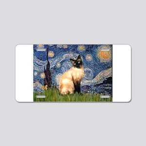 Starry Night Siamese Aluminum License Plate