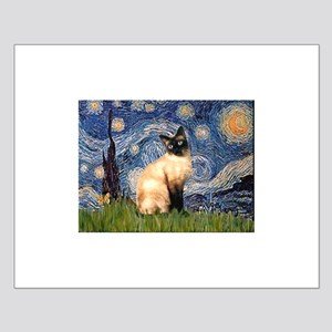 Starry Night Siamese Small Poster