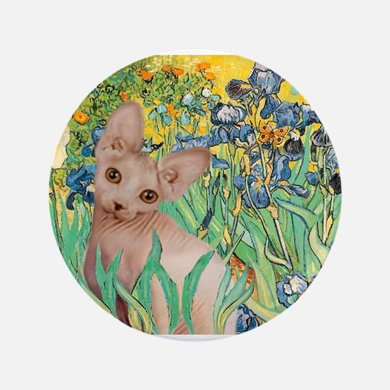 "Irises / Sphynx 3.5"" Button"