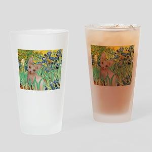 Irises / Sphynx Drinking Glass