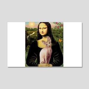 Sphynx Cat & Mona Lisa 22x14 Wall Peel