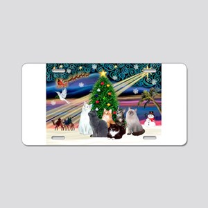 Xmas Magic / Six Cats Aluminum License Plate