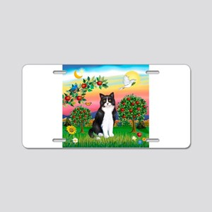 Bright Country / (B&W) Cat Aluminum License Plate