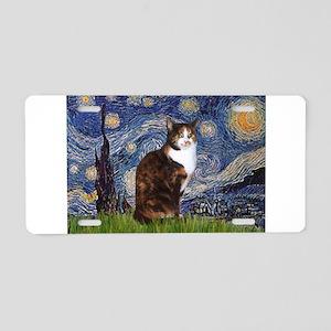 Starry Night & Calico Cat (#1 Aluminum License