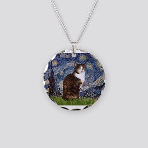 Starry Night & Calico Cat (#1 Necklace Circle