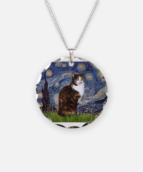 Starry Night & Calico Cat (#1 Necklace