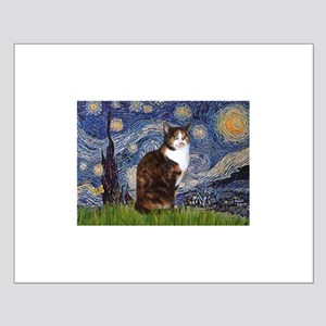 Starry Night & Calico Cat (#1 Small Poster